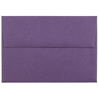 JAM Paper® 4bar A1 Envelopes, 3 5/8 x 5 1/8, Dark Purple, 50/pack (563912502I)