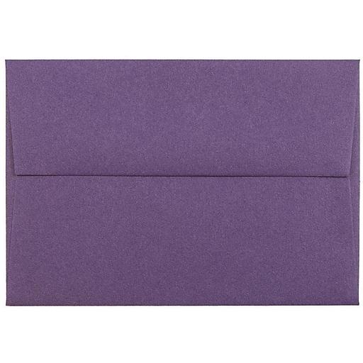 JAM Paper® 4Bar A1 Invitation Envelopes, 3.625 x 5.125, Dark Purple, Bulk 250/Box (563912502H)