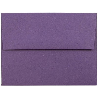 JAM Paper® A2 Invitation Envelopes, 4 3/8 x 5 3/4, Dark Purple, 25/pack (563912506)