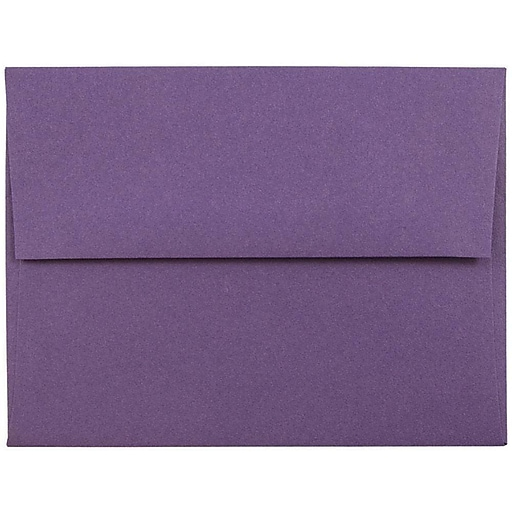 JAM Paper® A2 Invitation Envelopes, 4.375 x 5.75, Dark Purple, Bulk 250/Box (563912506H)
