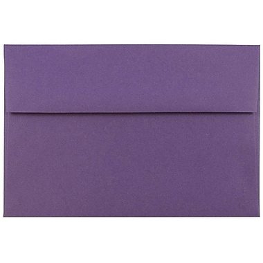 JAM Paper® A7 Invitation Envelopes, 5.25 x 7.25, Dark Purple, 50/pack (563912508I)