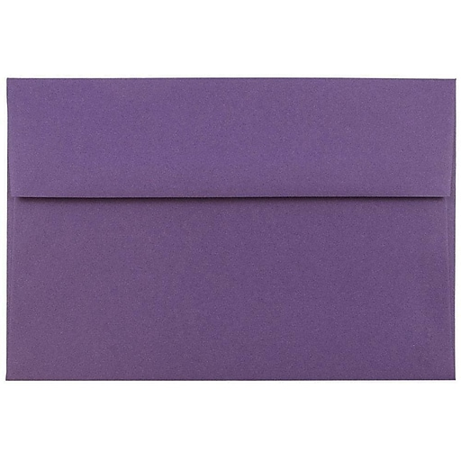 JAM Paper® A7 Invitation Envelopes, 5.25 x 7.25, Dark Purple, Bulk 250/Box (563912508H)