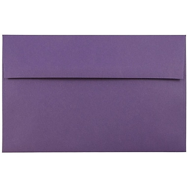 JAM Paper® A9 Invitation Envelopes, 5.75 x 8.75, Dark Purple, 1000/carton (563912512B)