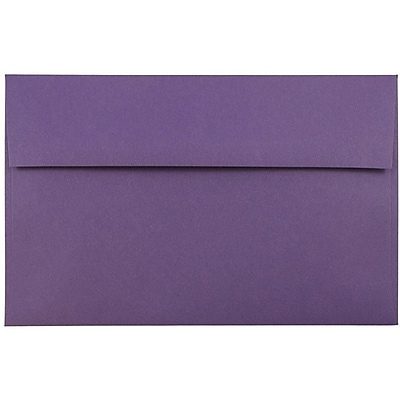 JAM Paper® A9 Invitation Envelopes, 5.75 x 8.75, Dark Purple, 50/pack (563912512I)