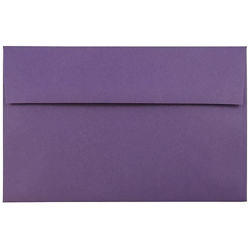 JAM Paper® A9 Invitation Envelopes, 5.75 x 8.75, Dark Purple, 50/Pack (563912512I)