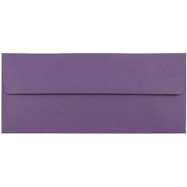 JAM Paper® #10 Business Envelopes, 4 1/8 x 9 1/2, Dark Purple, 50/pack (563912516I)