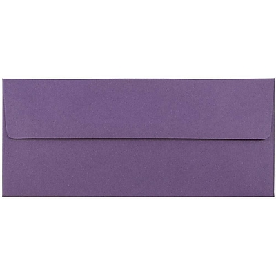 JAM Paper® #10 Business Envelopes, 4 1/8 x 9 1/2, Dark Purple, 1000/carton (563912516B)