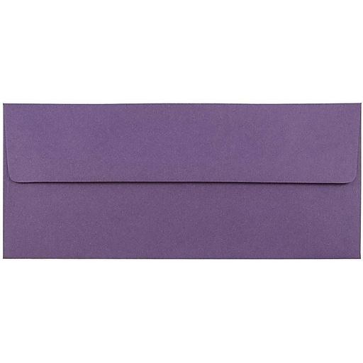 JAM Paper® #10 Business Envelopes, 4.125 x 9.5, Dark Purple, 50/Pack (563912516I)