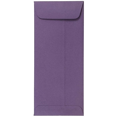 JAM Paper® #10 Policy Envelopes, 4 1/8 x 9 1/2, Dark Purple, 25/pack (563912518)