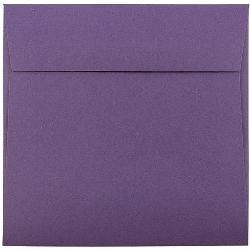 JAM Paper® 6 x 6 Square Invitation Envelopes, Dark Purple, 50/Pack (563912522I)