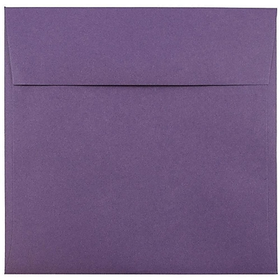 JAM Paper® 8.5 x 8.5 Square Envelopes, Dark Purple, 25/pack (563912527)