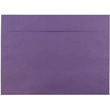 JAM Paper® 9 x 12 Booklet Envelopes, Dark Purple, 25/pack (572312532)
