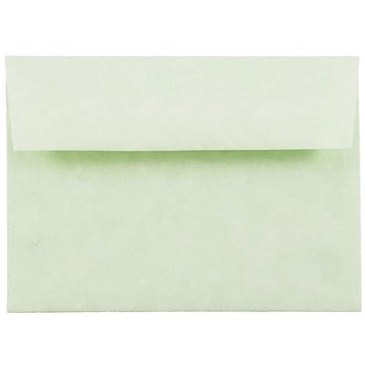 JAM Paper® 4bar A1 Envelopes, 3 5/8 x 5 1/8, Parchment Green Recycled, 50/pack (900826112I)
