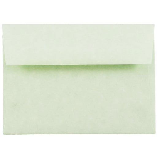 JAM Paper® 4Bar A1 Parchment Invitation Envelopes, 3.625 x 5.125, Green Recycled, Bulk 250/Box (900826112H)