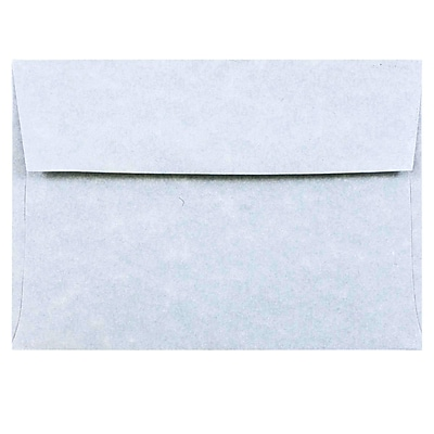 JAM Paper® 4bar A1 Envelopes, 3 5/8 x 5 1/8, Parchment Blue Recycled, 50/pack (900877844I)