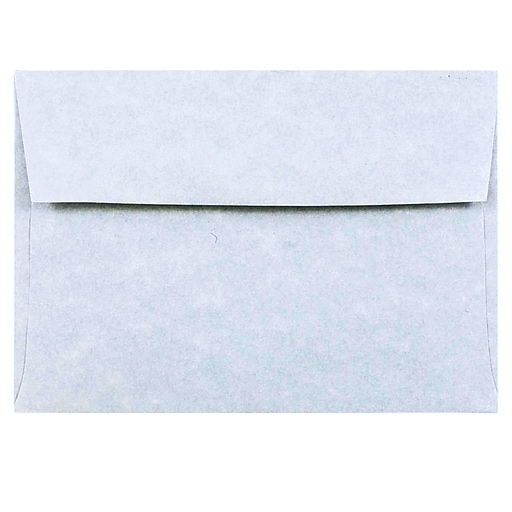 JAM Paper® 4Bar A1 Parchment Invitation Envelopes, 3.625 x 5.125, Blue Recycled, 50/Pack (900877844I)