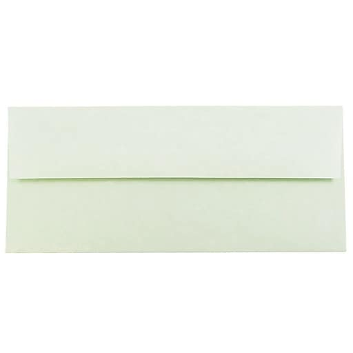 JAM Paper® #10 Parchment Business Envelopes, 4.125 x 9.5, Green Recycled, 25/Pack (900906636)
