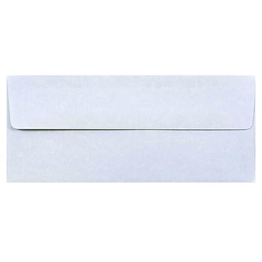 JAM Paper® #10 Business Envelopes, 4 1/8 x 9 1/2, Blue Parchment Recycled, 50/pack (900908732I)