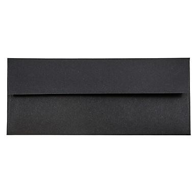 JAM Paper® #10 Business Envelopes, 4 1/8 x 9 1/2, Black Linen Recycled, 25/pack (900921796)