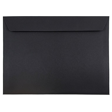 JAM Paper® 9 1/2 x 12 5/8 Booklet Envelopes, Black Linen Recycled, 1000/carton (900934622B)