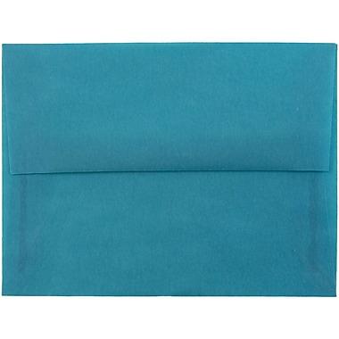JAM Paper® A6 Invitation Envelopes, 4.75 x 6.5, Aqua Blue Translucent Vellum, 25/pack (PACV664)