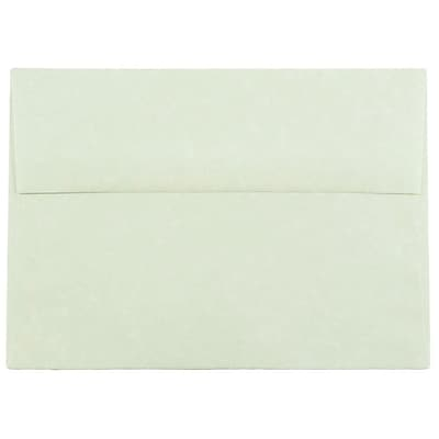 JAM Paper® A7 Invitation Envelopes, 5.25 x 7.25, Parchment Green Recycled, 50/pack (519I)