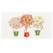 JAM Paper® Christmas Holiday Cards Box Set, Three Poinsettias, 25/pack (52614492R)
