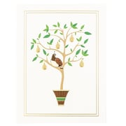 JAM Paper® Christmas Holiday Cards Set, Partridge in a Pear Tree, 25/pack (52614492Y)