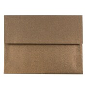 JAM Paper® A2 Invitation Envelopes, 4 3/8 x 5 3/4, Stardream Metallic Bronze, 25/pack (GCST602)