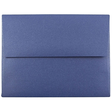JAM Paper® A2 Invitation Envelopes, 4 3/8 x 5 3/4, Stardream Metallic Sapphire Blue, 250/box (GCST605H)