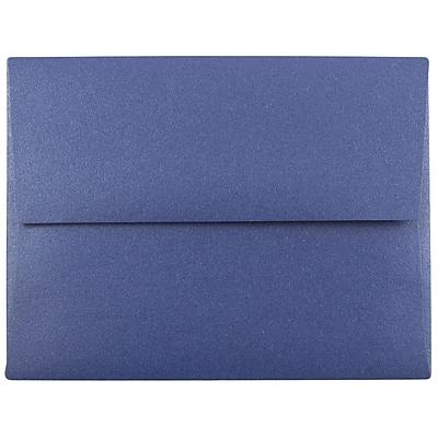 JAM Paper® A2 Invitation Envelopes, 4 3/8 x 5 3/4, Stardream Metallic Sapphire Blue, 250/box (GCST605H)