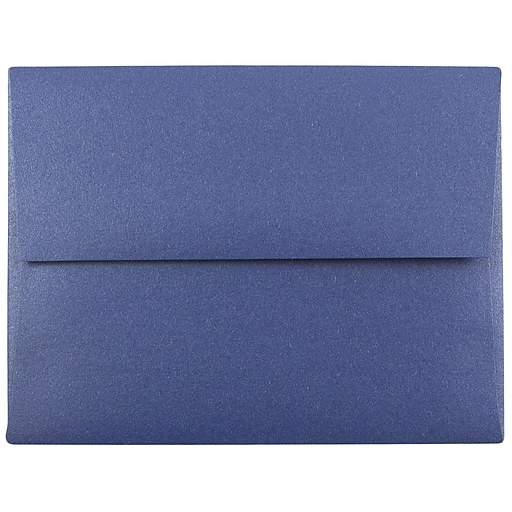 JAM Paper® A2 Metallic Invitation Envelopes, 4.375 x 5.75, Stardream Sapphire Blue, 50/Pack (GCST605I)