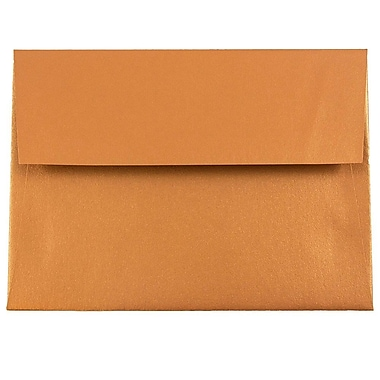 JAM Paper® A6 Invitation Envelopes, 4.75 x 6.5, Stardream Metallic Copper, 25/pack (GCST651)