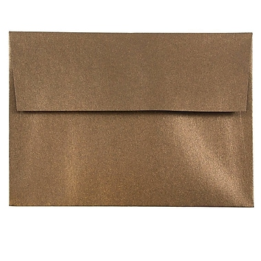 JAM Paper® A6 Invitation Envelopes, 4.75 x 6.5, Stardream Metallic Bronze, 50/pack (GCST652I)