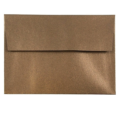 JAM Paper® A6 Invitation Envelopes, 4.75 x 6.5, Stardream Metallic Bronze, 250/box (GCST652H)