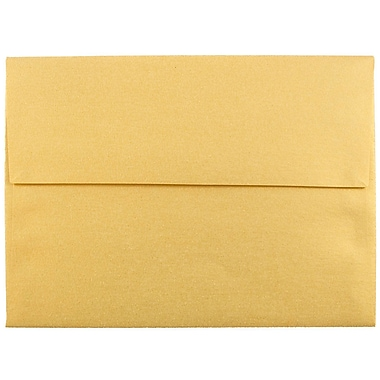JAM Paper® A6 Invitation Envelopes, 4.75 x 6.5, Stardream Metallic Gold, 25/pack (GCST658)