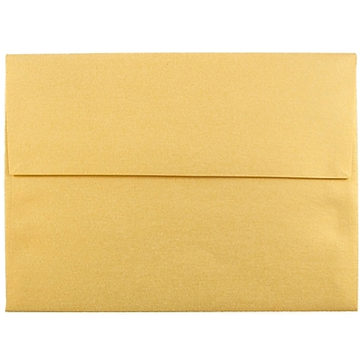 JAM Paper® A6 Invitation Envelopes, 4.75 x 6.5, Stardream Metallic Gold, 1000/carton (GCST658B)