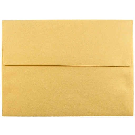 JAM Paper® A6 Metallic Invitation Envelopes, 4.75 x 6.5, Stardream Gold, Bulk 250/Box (GCST658H)