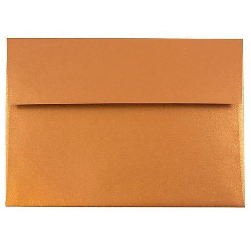 JAM Paper® A7 Metallic Invitation Envelopes, 5.25 x 7.25, Stardream Copper, 50/Pack (GCST701I)