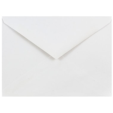 JAM Paper® A6 Invitation Envelopes, 4.75 x 6.5, White with V-Flap, 50/pack (J0567I)