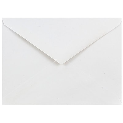 JAM Paper® A6 Invitation Envelopes, 4.75 x 6.5, White with V-Flap, 250/box (J0567H)