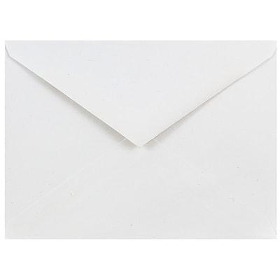 JAM Paper® A6 Invitation Envelopes, 4.75 x 6.5, White with V-Flap, 25/pack (J0567)