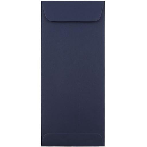 JAM Paper® #10 Policy Business Envelopes, 4.125 x 9.5, Navy Blue, 50/Pack (LEBA317I)