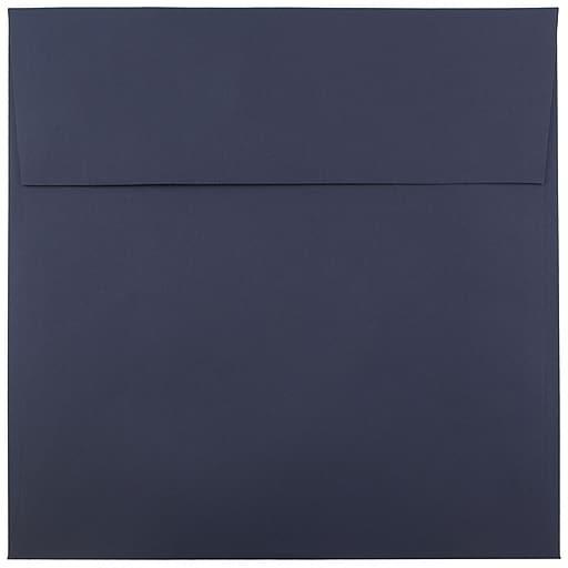 JAM Paper® 8.5 x 8.5 Square Invitation Envelopes, Navy Blue, Bulk 1000/Carton (LEBA567B)