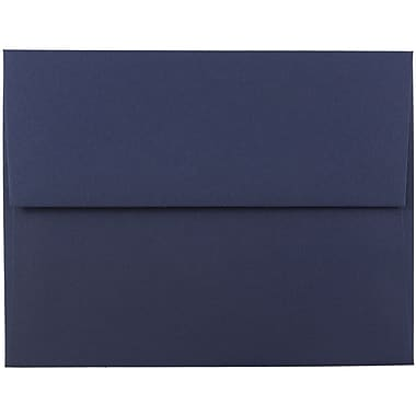 JAM Paper® A2 Invitation Envelopes, 4 3/8 x 5 3/4, Navy Blue, 25/pack (LEBA617)