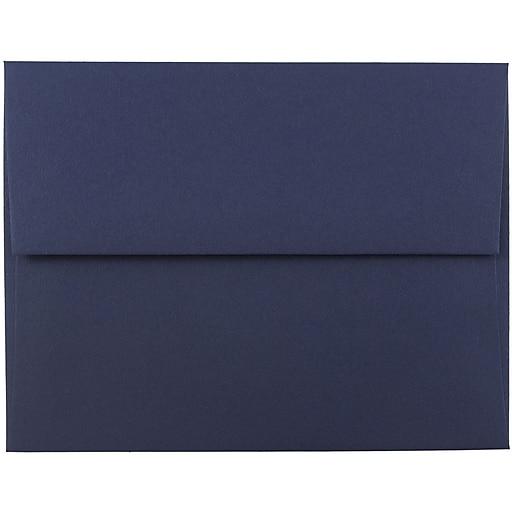 JAM Paper® A2 Invitation Envelopes, 4.375 x 5.75, Navy Blue, Bulk 250/Box (LEBA617H)