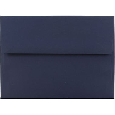 JAM Paper® A6 Invitation Envelopes, 4.75 x 6.5, Navy Blue, 1000/carton (LEBA667B)