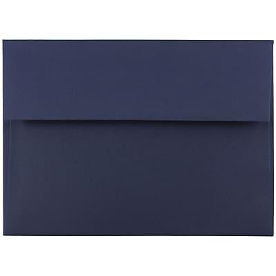 JAM Paper® A7 Invitation Envelopes, 5.25 x 7.25, Navy Blue, 250/box (LEBA717H)