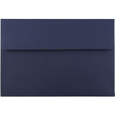 JAM Paper® A8 Invitation Envelopes, 5.5 x 8.125, Navy Blue, 50/pack (LEBA767I)