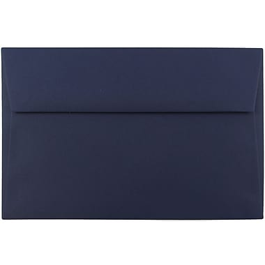 JAM Paper® A9 Invitation Envelopes, 5.75 x 8.75, Navy Blue, 250/box (LEBA792H)